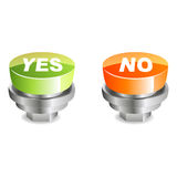 Yes And No Buttons Royalty Free Stock Photography