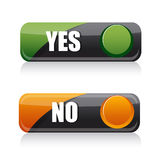 Yes And No Buttons Royalty Free Stock Image