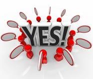 Yes Approval Acceptance People Speech BubblesTalking Stock Image