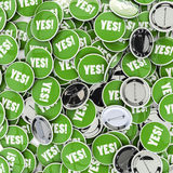 Yes badges Royalty Free Stock Photography
