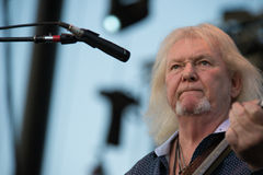 Yes the band. LINCOLN, CA - August 23: Chris Squire of the band Yes performs at Thunder Valley Casino Resort in Lincoln, California on August 23, 2014 Stock Images