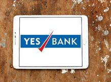 Yes Bank logo. Logo of Yes Bank on samsung tablet. Yes Bank is India`s fourth largest private sector bank Royalty Free Stock Images