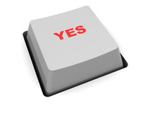 'yes' button Royalty Free Stock Photos
