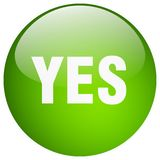 Yes button. Yes round button isolated on white background. yes stock illustration