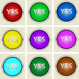 Yes buttons Royalty Free Stock Photography