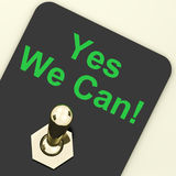 Yes We Can Switch Shows Motivate Encourage Royalty Free Stock Photos