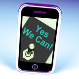 Yes We Can Switch Shows Motivate Encourage Success Royalty Free Stock Photos