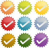 Yes checkmark seal illustration Royalty Free Stock Image