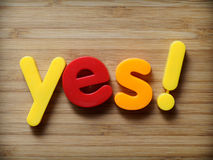 Yes concept Royalty Free Stock Photos