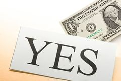 Yes conception. No doubt about money conception royalty free stock photography
