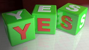 YES cubes Royalty Free Stock Photography