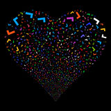 Yes Fireworks Heart Royalty Free Stock Images