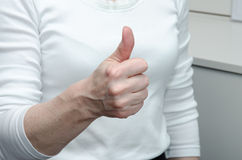 Yes gesture Royalty Free Stock Photo