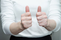 Yes gesture Stock Photo