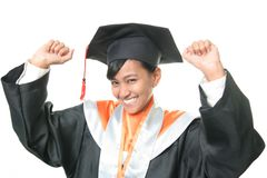yes! graduation Royalty Free Stock Photo