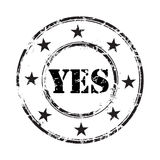 Yes grunge rubber stamp background Stock Images