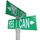Yes I Can - Two-Way Street Sign Stock Photography