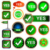 Yes icons set Royalty Free Stock Photo
