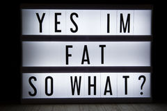Yes im fat so what? Stock Image