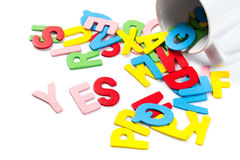 Yes letters Stock Photos