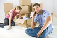 Yes, we moved in already Royalty Free Stock Image