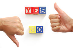 Yes, or no? Stock Photo