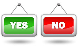 Yes and no Royalty Free Stock Photography