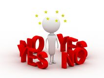 Yes and No Stock Images