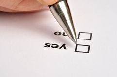 Yes or No Stock Photography