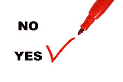 Yes and No Royalty Free Stock Image
