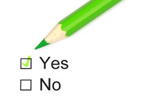 Yes or No Stock Photo