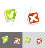 Yes or No. Check mark Yes and No royalty free illustration