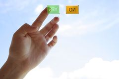Yes or No. Choice of solution Stock Image