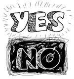 Yes-no Στοκ Εικόνα