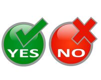 Yes and no Stock Photography