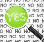 Yes-no Στοκ εικόνα με δικαίωμα ελεύθερης χρήσης