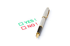 Is it yes or no ? Stock Image