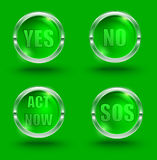 Yes-no Στοκ Φωτογραφίες