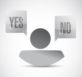 Yes or no avatar illustration design Stock Image