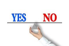 Yes No Balance Royalty Free Stock Photos