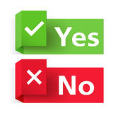 Yes and No Banners Stock Images