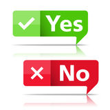 Yes and No Banners Royalty Free Stock Image