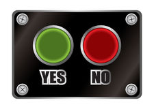 Yes no black button Royalty Free Stock Photos