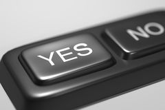 Yes and No black buttons Stock Photos