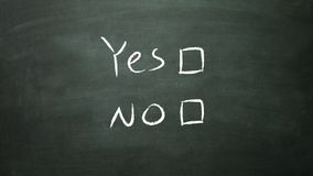 Yes no box empty Stock Photography