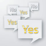 Yes and no bubbles Royalty Free Stock Photography