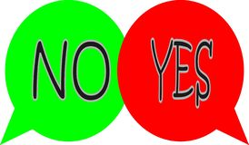 Yes or no bubbles stock illustration