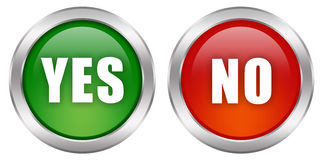 Yes no button Stock Image