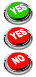 Yes and no button Royalty Free Stock Photo