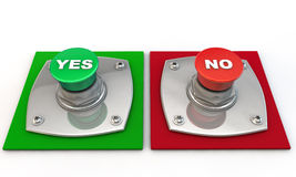 Yes or No Button Stock Photos